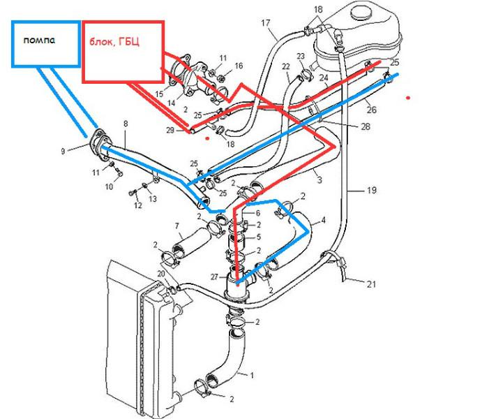 Система отопления ланос 1.5 схема фото 532